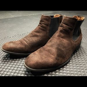 Brown Suede H&M Chelsea Boots Size 8